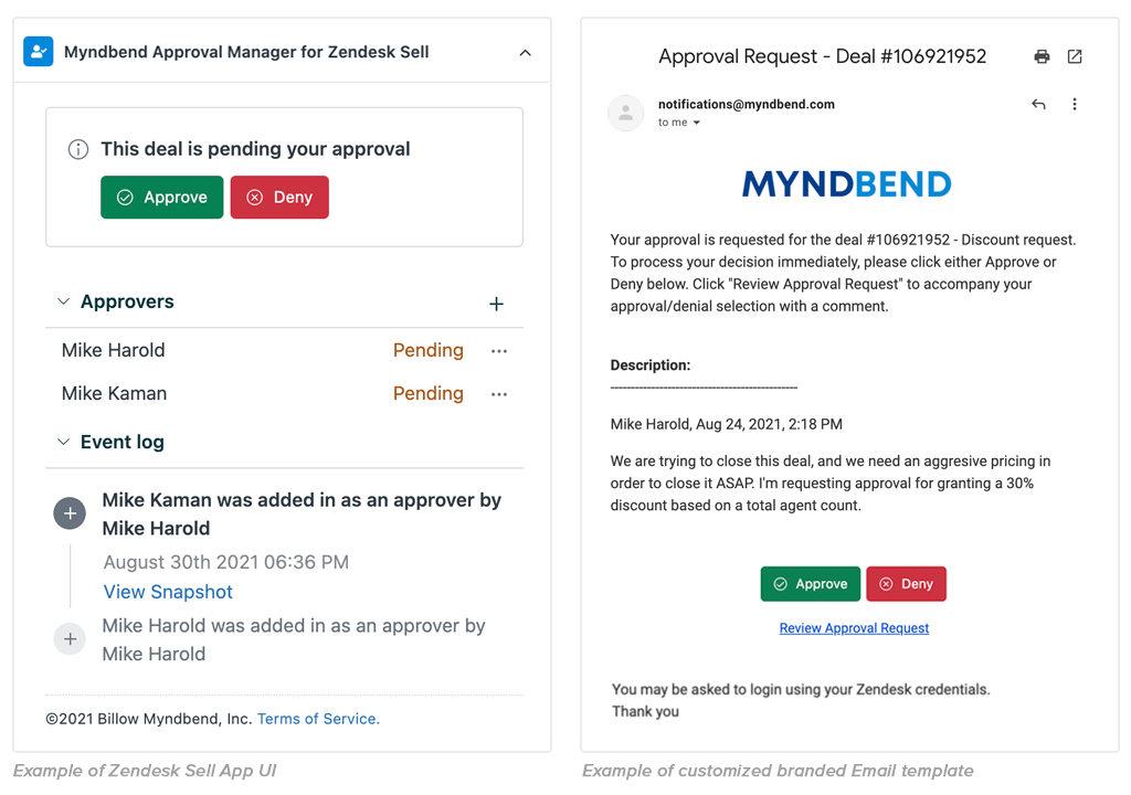 Example of adding approvers